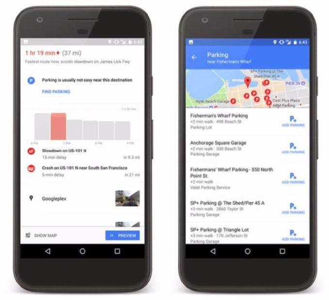 Google Maps Parktplatz Navigation