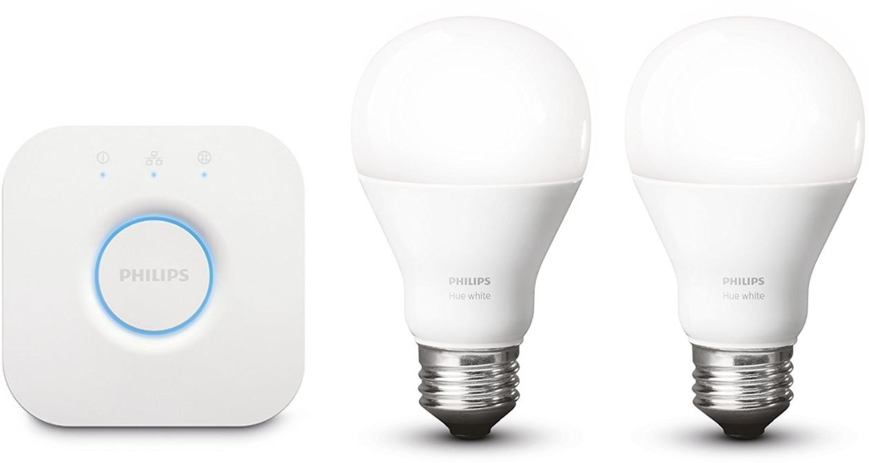 Philips Hue Starter Set zwei LEDs inkl Bridge