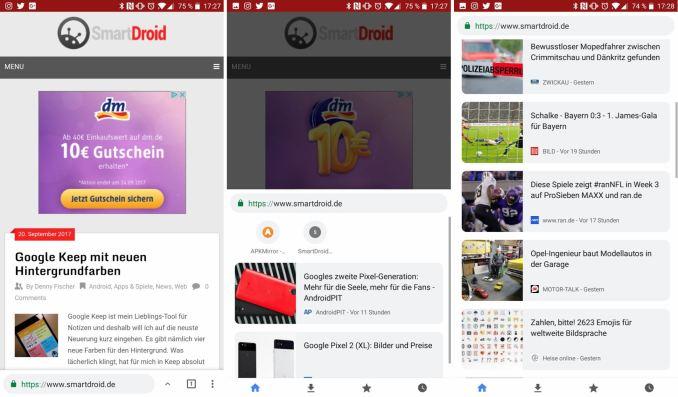Chrome Home ab Beta 62 Screenshots