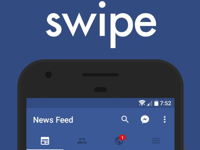 Swipe Facebook App Header