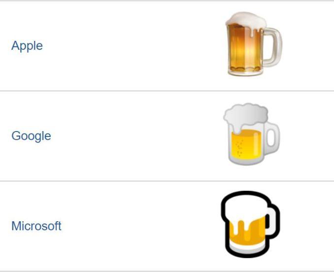 Google Bier Emoji Fail