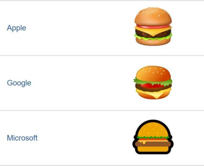 Google Burger Emoji Fail