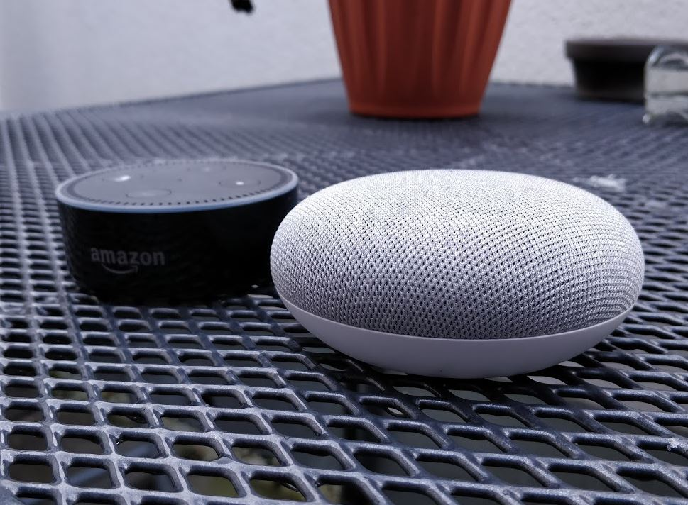 Google Home Mini Amazon Echo Dot Vergleich