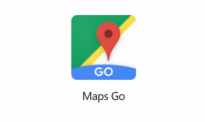 Google Maps Go Header