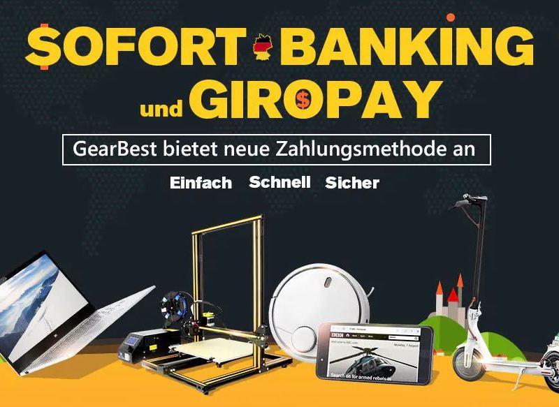 Sofort Banking und Giropay GearBest