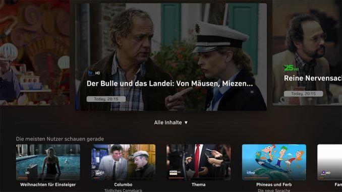 Zattoo Apple TV Dez 17 Update