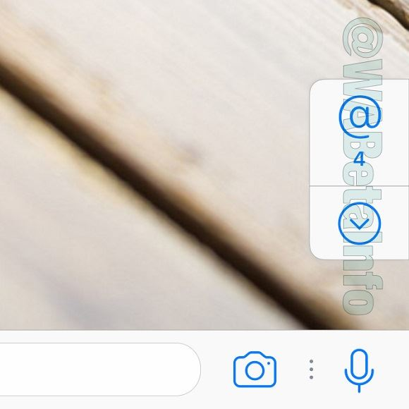 WhatsApp Taste Erwähnung