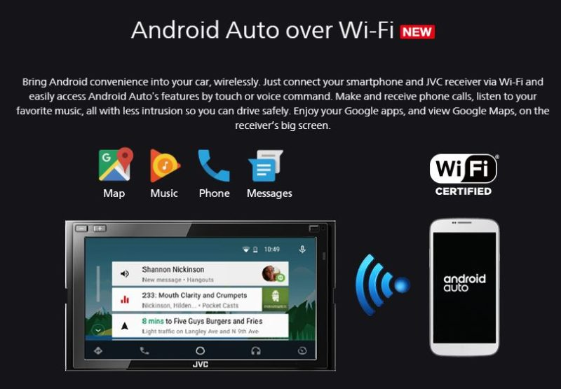 Android Auto over Wi-Fi JVC