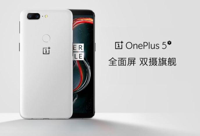 OnePlus 5T Sandstone White Asien