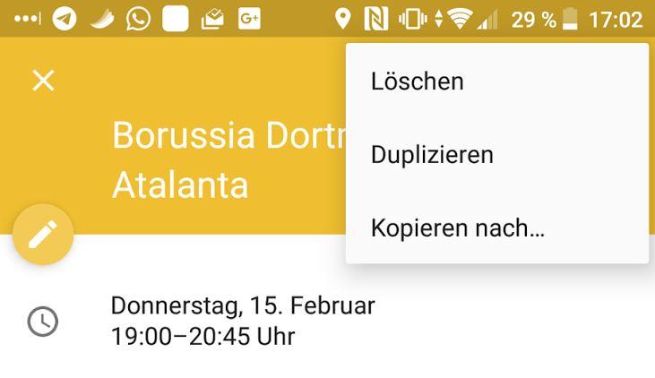 Google Kalender neue optionen