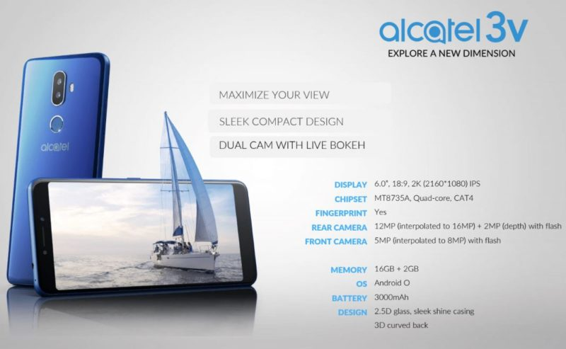 Alcatel 3V Spec