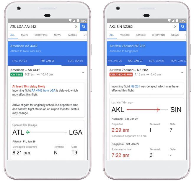 Google Flugsuche Verspätungen