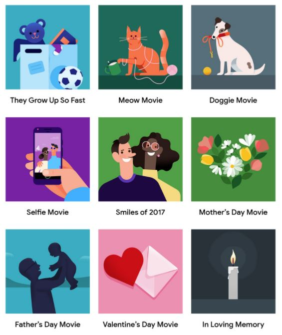 Google Fotos Themen Filme
