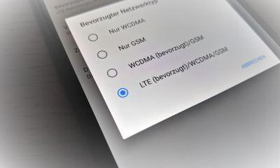 LTE 4G Android Einstellungen Header