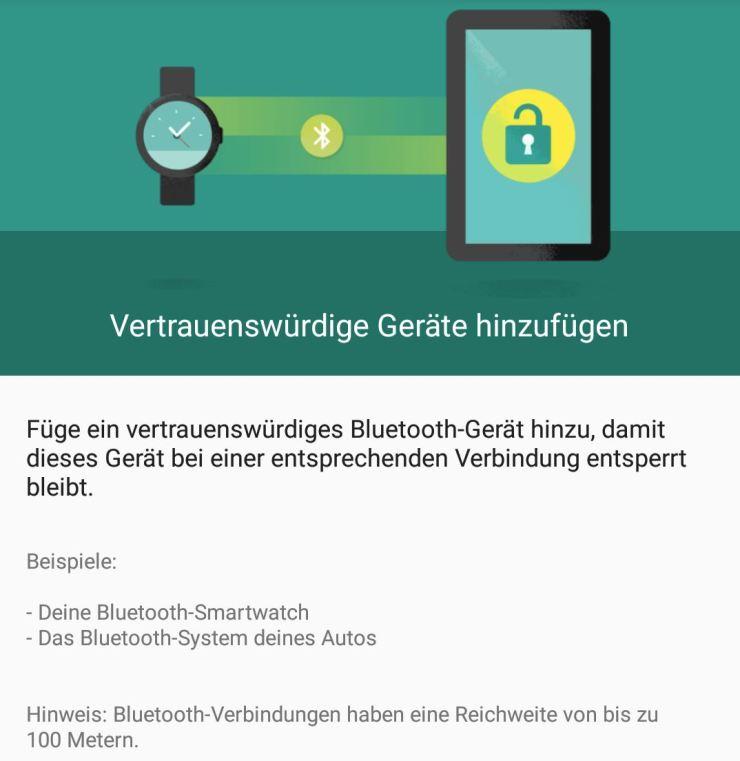 Android Smart Lock verbundene Geräte