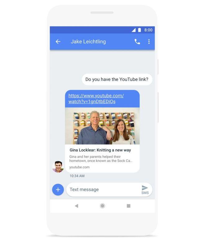 Android Messages Link Vorschau