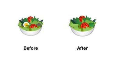 salad-emoji-android-p-before-after
