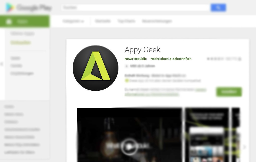 Appy Geek Play Store Header