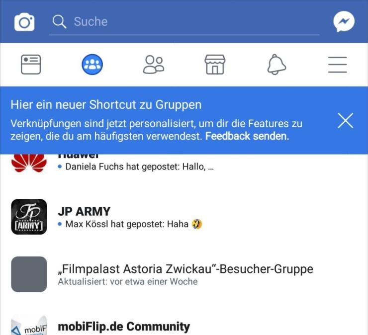 Facebook Gruppen Tab App August 2018