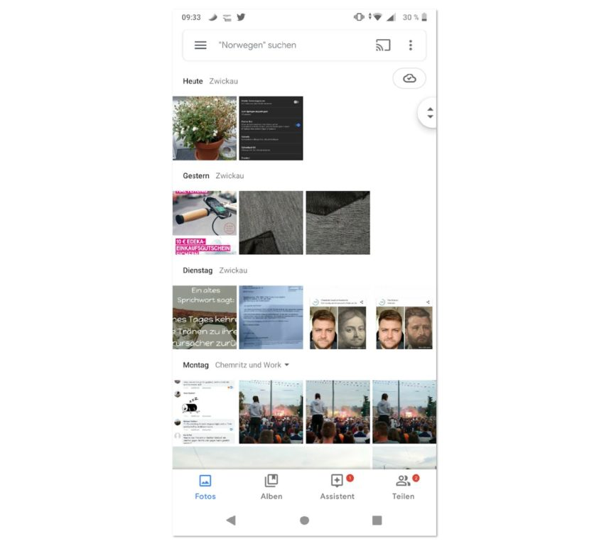 Google Fotos 4.0 Design