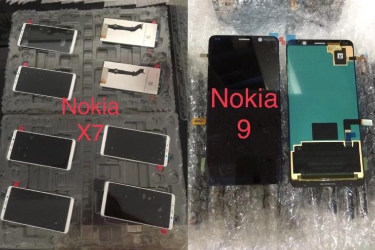Nokia 7.1 und 9 Leak Frontpanel