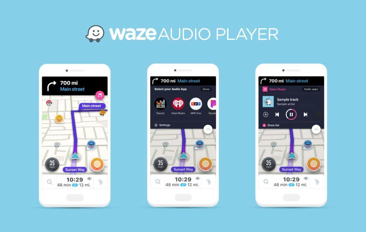 Waze Audio Player