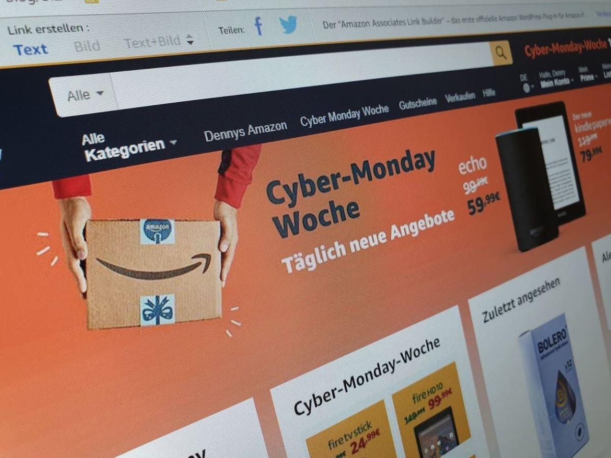 Amazon Cyber Monday Woche 2018 Header