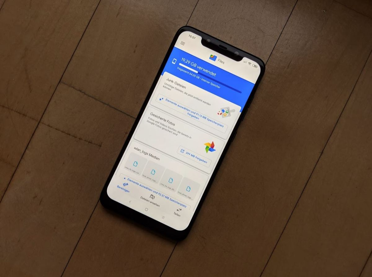 Google Files App Header