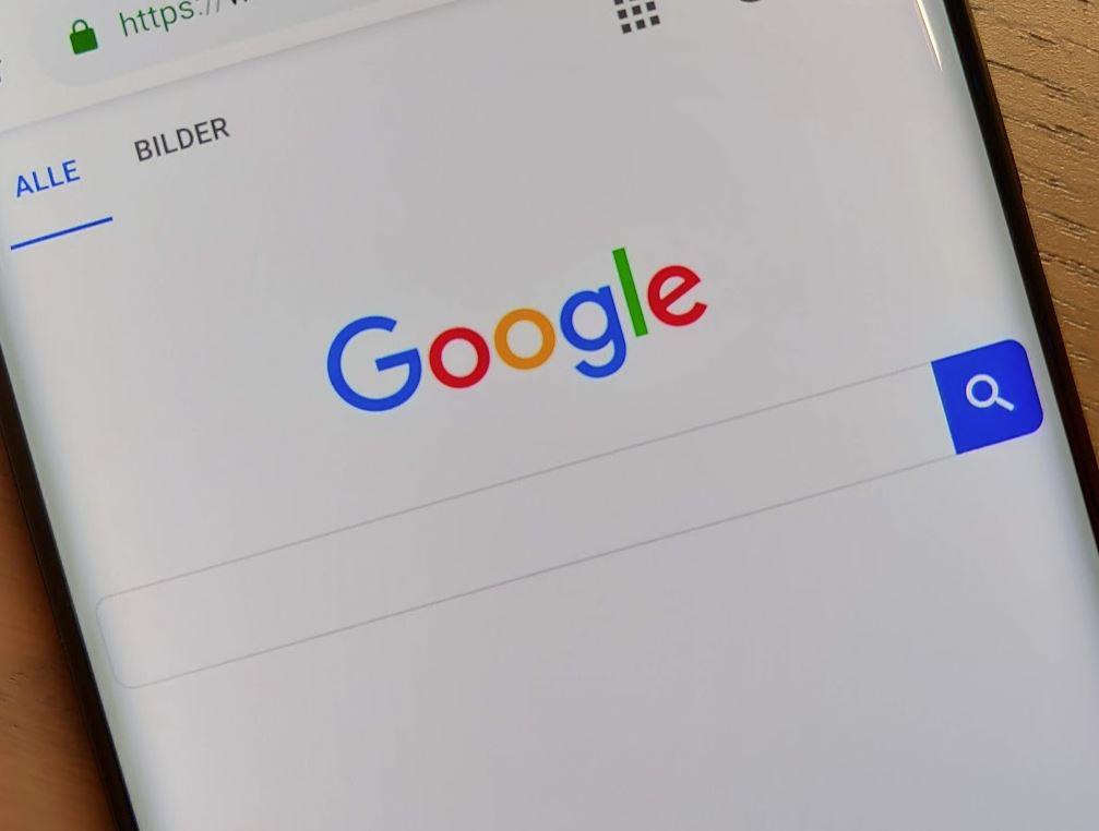 Google Logo Suche Header