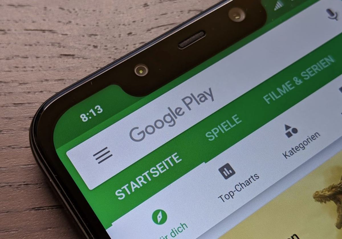 Google Play Store Header