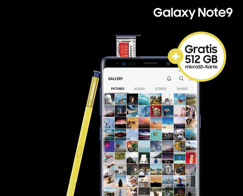 samsung galaxy note9 kaufen 512 gb speicherkarte kostenlos. Black Bedroom Furniture Sets. Home Design Ideas