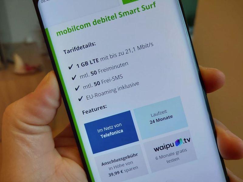 Smart Surf 1 GB mobilcom Header