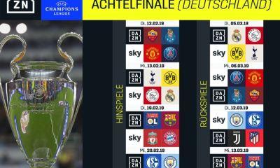 DAZN Sky Achtelfinale 2019 Champions League