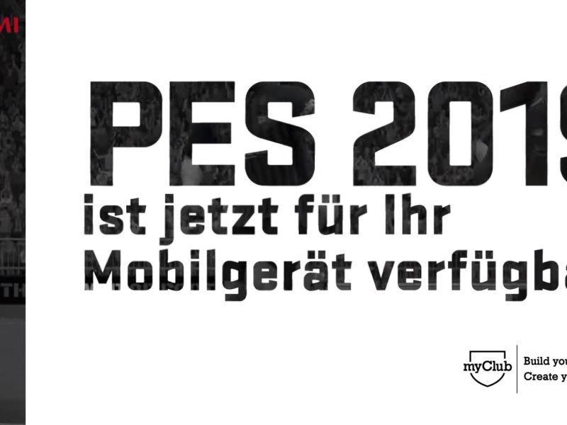 PES 2019 Mobile Header