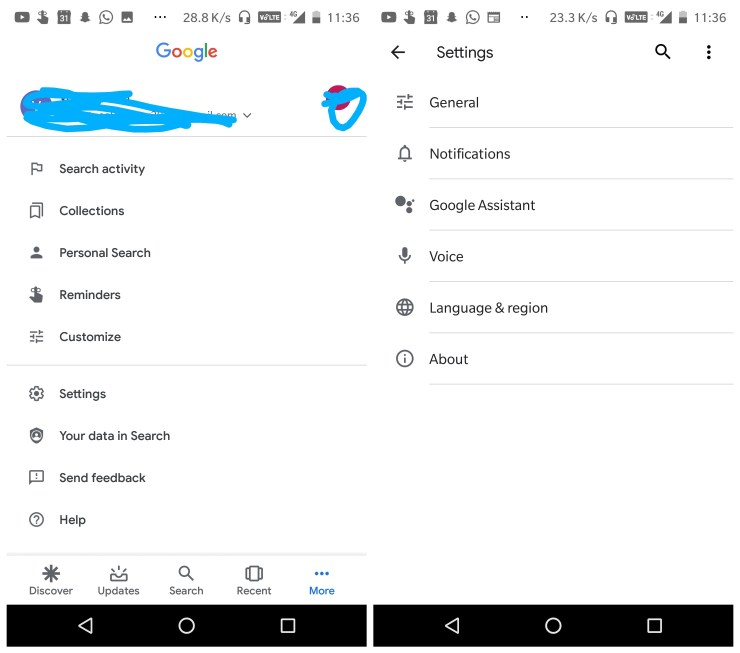 Google App Januar Material Design Update