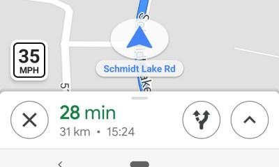 Maps Geschwindigkeitsanzeige