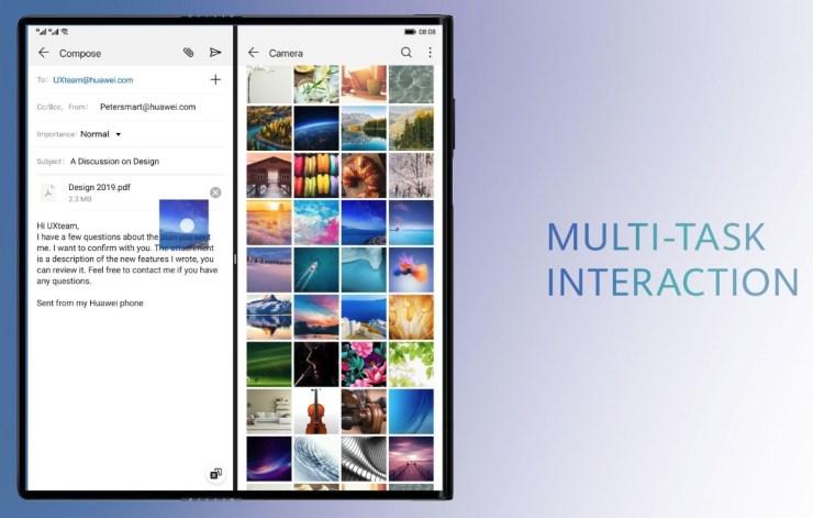 Huawei Mate X Multi Tasking