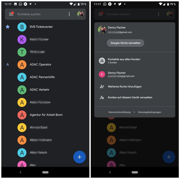 Google Kontakte Feb 2019 Update