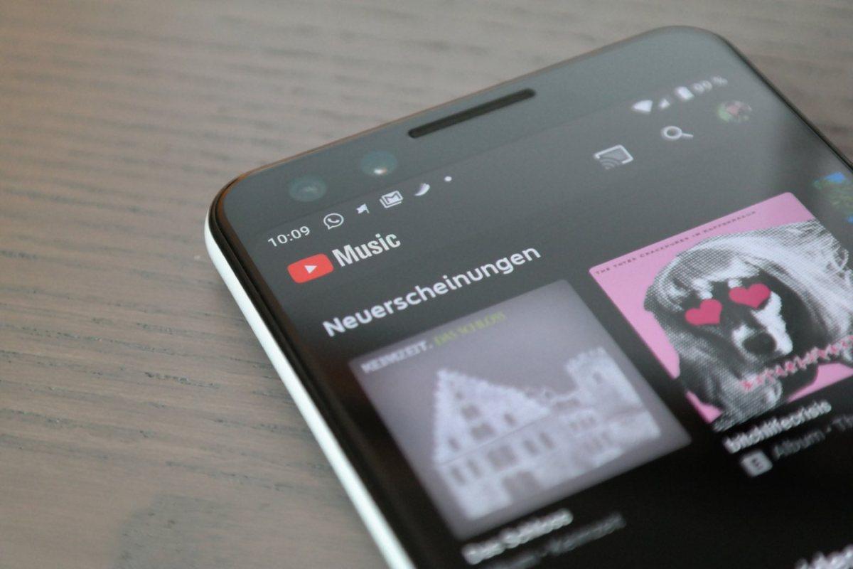 YouTube Music Header