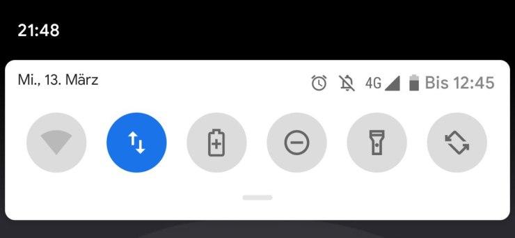 Android Q Restlaufzeit Akku Screenshot