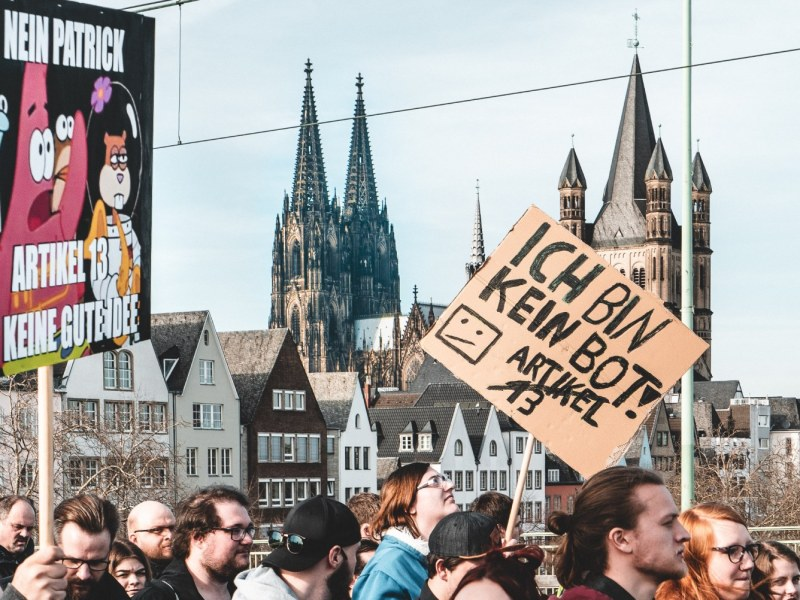 Artikel 13 Demo Köln Mika Baumeister