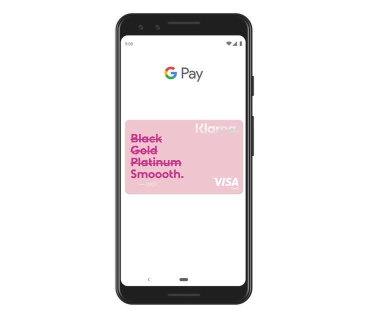 Klarna Card Google Pay