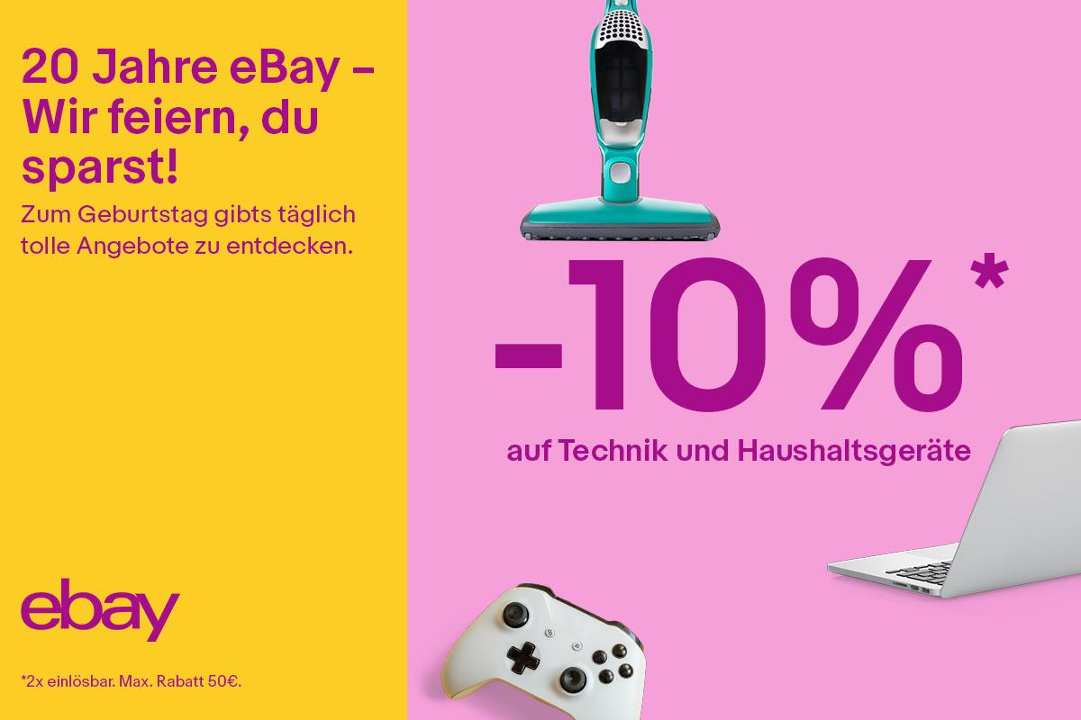 20 Jahre Ebay 10 Prozent Rabatt