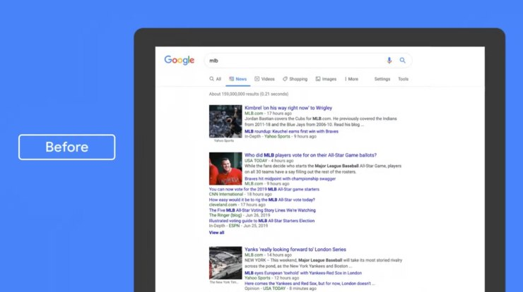 Google News Desktop-Update 2019