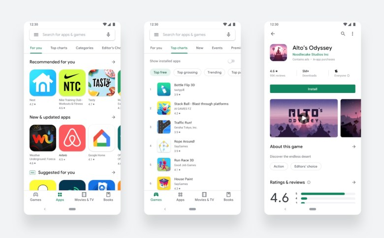 Google Play Store Redesign 2019