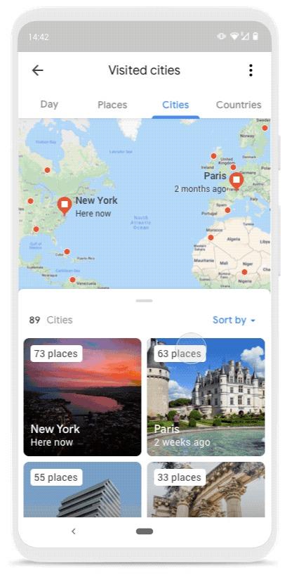 Google Maps Zeitachse Update August 2019