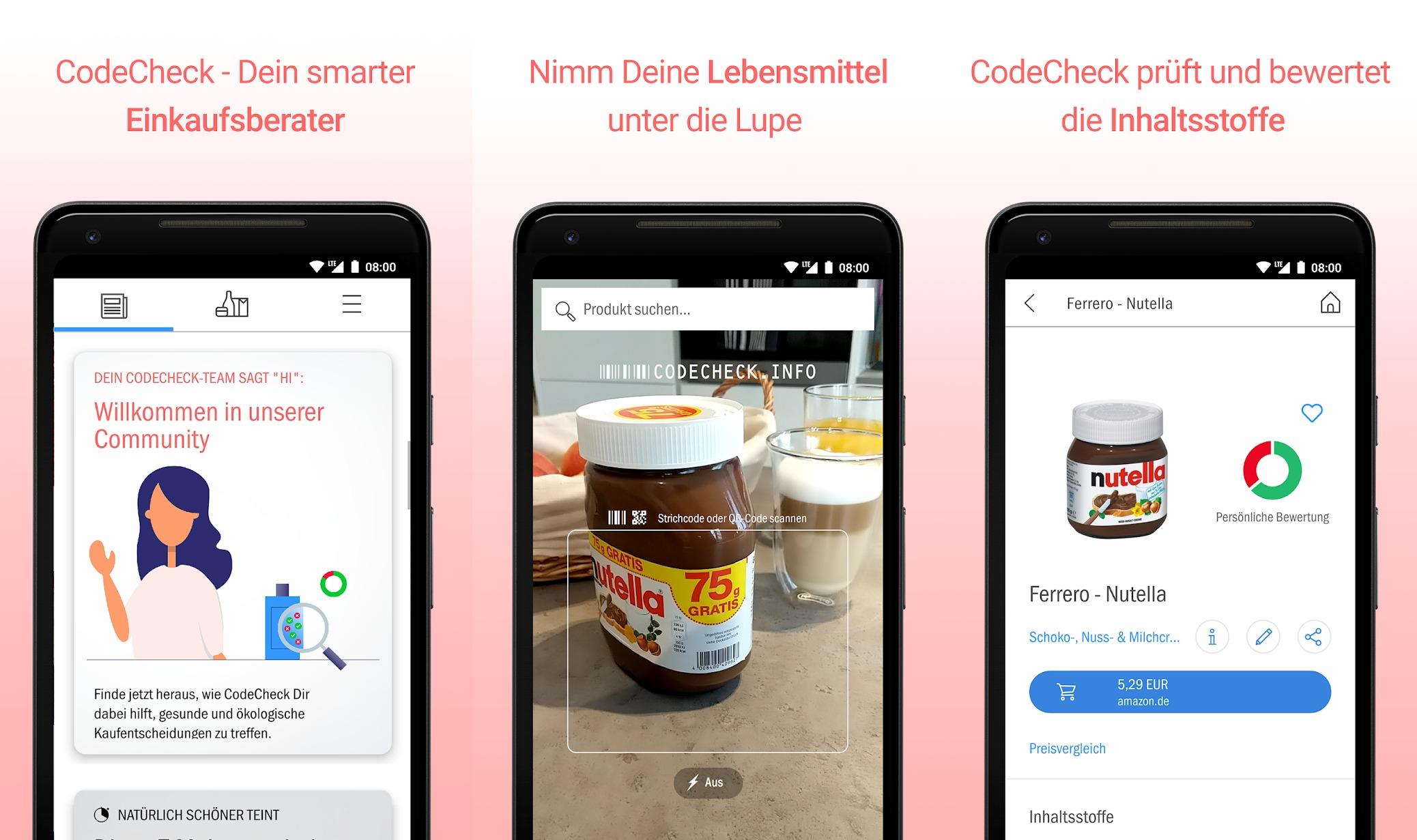 CodeCheck: Lebensmittel-Scan-App verrät Inhaltsstoffe und mehr