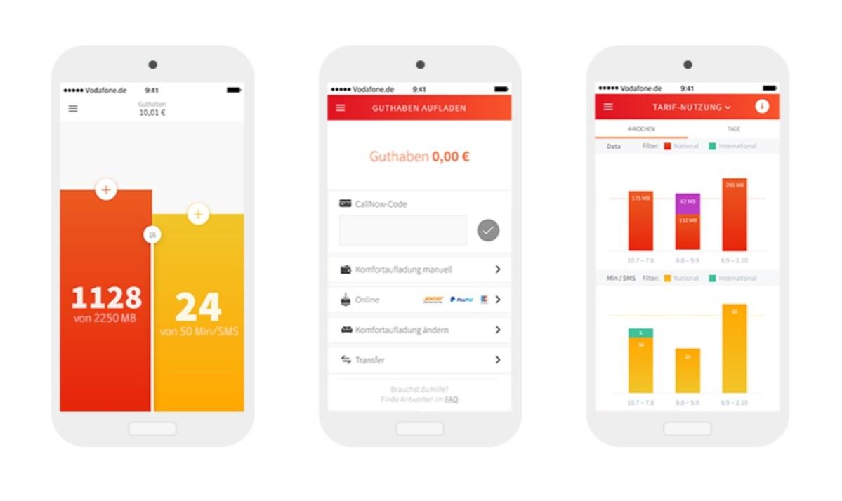 Vodafone CallYa Flex App Header