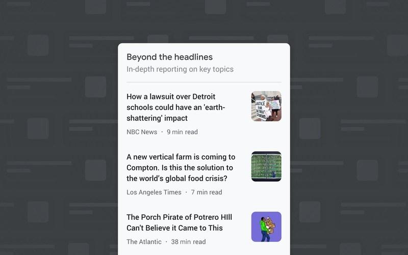 Beyond the Headlines Google News