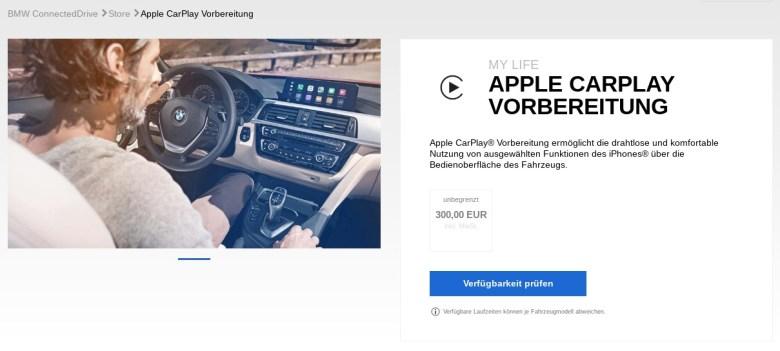 BMW CarPlay neuer Preis Dez 2019